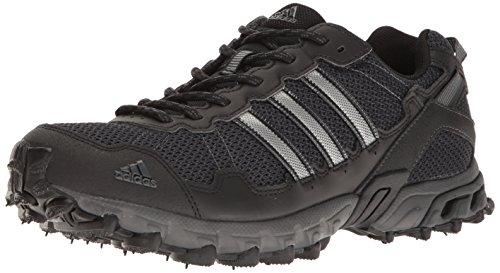 adidas Men's Rockadia Trail M Running Shoe, Black/Black/Dark Grey Heather, 10.5 M US