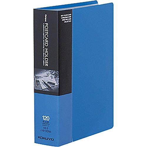 コクヨ ファイル ポストカードホルダー 固定式 A6 60ポケット 最大120枚収容 青 ハセ-30NB