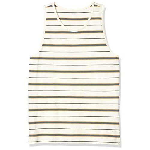 Goodthreads Soft Cotton Tank Top T-Shirt, Banda Bianca Vintage, S