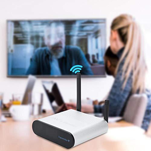 FOLOSAFENAR Transmisor y Receptor de Audio y Video inalámbrico Canales de 2,4 GHz de 8 Grupos Sin interferencia de señal Remitente AV inalámbrico, para Diferentes(European regulations)