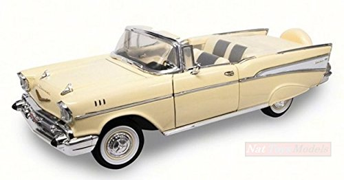 Lucky Die Cast LDC92108Y Chevrolet Bel Air Convertible 1957 Light Yellow 1:18 Compatibile con
