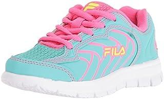 Fila Girls' Star Runner Skate Shoe Aruba Blue/Knockout Pink/Safety Yellow 1 M US Little Kid [並行輸入品]