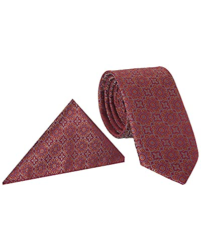 Makrom Corbata estampada floral con pañuelo