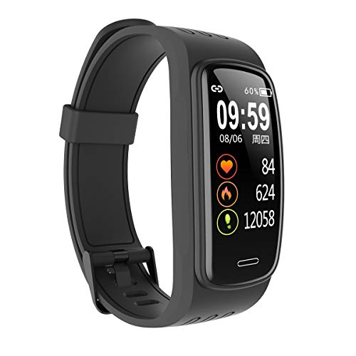 docooler Smartwatch Fitness Tracker Orologio Donna Uomo Cardiofrequenzimetro da Polso Sfigmomanometro Contapassi IP68 Impermeabile Smart Watch per Android iOS, Nero