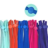 1/5 Inch Elastic Band for Masks, 100pcs Elastic String for DIY Sewing with Adjustable Buckle,High Stretch Colored Adjustable Ear Loops