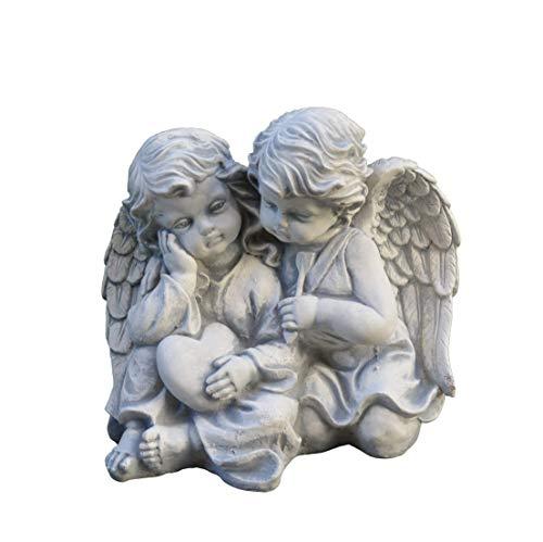 gartendekoparadies.de Massive Steinfigur Engelpaar Stein Engel aus Steinguss frostfest