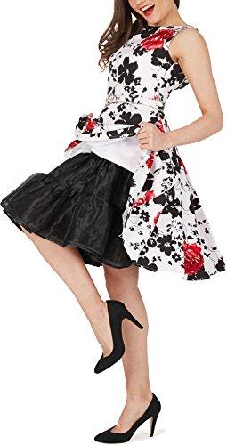 Black Butterfly 20″ Rockabilly Petticoat 1950er-Jahre Komplett aus Satin-Organza Tellerrock (Schwarz, EUR 36 – 42) - 5