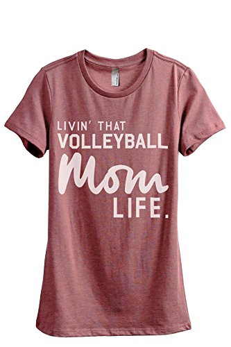 Thread Tank Livin' That Volleyball Mom Life Women's Fashion...