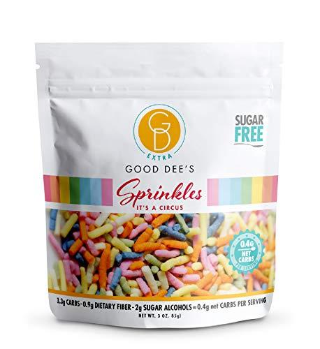 Good Dee's Sugar Free Sprinkles - All Natural Coloring Low Carb Keto Rainbow Sprinkles