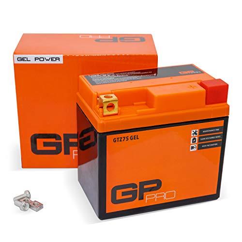 GP-PRO GTZ7S 12V 6Ah GEL-Batterie (Ähnlich YTZ7S / 50616) (Wartungsfrei & Versiegelt) Akkumulator Motorrad Motorradbatterie