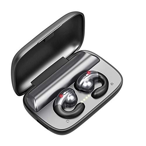 Auricolari senza fili, cuffie senza fili, cuffie a conduzione ossea Bluetooth 5.0 TWS con microfono per telefoni iOS Android supporta app (nero)