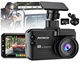 Dashcam Blitzerwarner Verkehrsalarm 3 in 1: PAPAGO Smart Autokamera 1296P 140° Weitwinkel G Sensor...