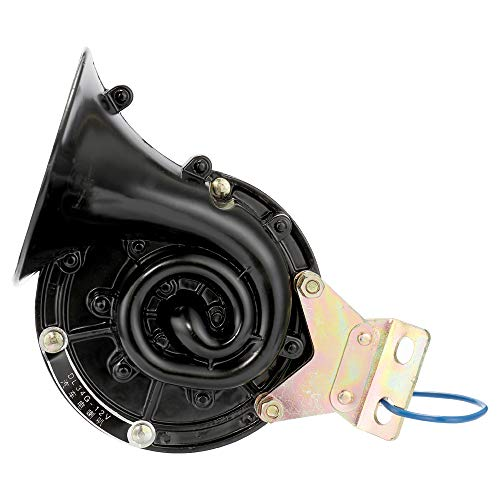 Carrfan Ruidoso 300DB 12V / 24V Negro Cuerno de Caracol Eléctrico Bocina de Aire Sonido Furioso para Coche Moto Camión Barco