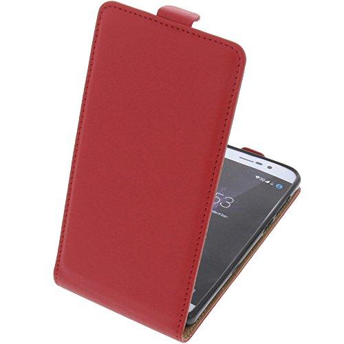 foto-kontor Tasche für Cubot P12 (z100) Smartphone Flipstyle Schutz Hülle rot