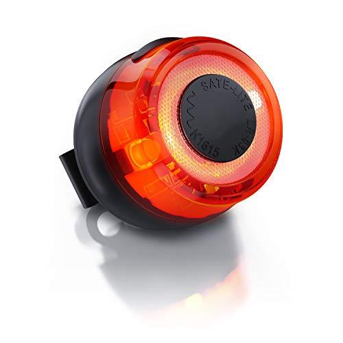 CSL-Computer Akku Fahrradrücklicht mit CREE-LED | 60 Lumen | StvZO Zulassung | Befestigung mit Gummilasche, für Sattelstangen Durchmesser von 25 – 42 mm | aufladbar