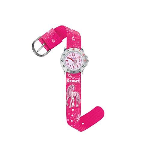 Scout Mdchen Analog Quarz Uhr mit Textil Armband 280378007