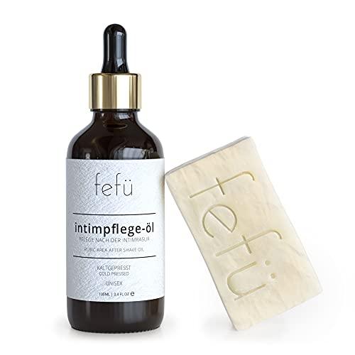 fefü Intimpflegeöl - Pflege nach der Intimrasur | After Shave ohne Chemie | gegen Rasierpickel und eingewachsene Haare | 100mL | kaltgepresst