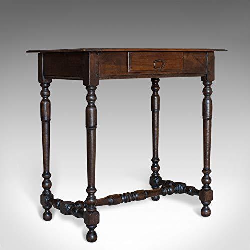 Beistelltisch, antiker Stil, Englisch, Eiche, Begrenzung, Lampe, viktorianisch, Circa 1880