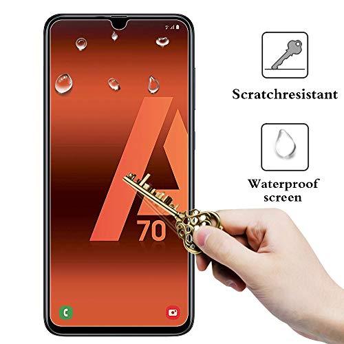 ANEWSIR Panzerglas Schutzfolie Kompatibel mit Samsung Galaxy A70/A90 5G Displayschutzfolie, [2 Stück] [Einfache Installation] [ohne Luftblasen] [Anti-Kratzer], für Galaxy A70/A90 5G.