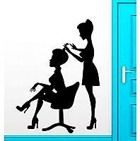 42 X 57 cmウォールステッカービニールデカール理髪店美容室ヘアスタイリストスパ装飾