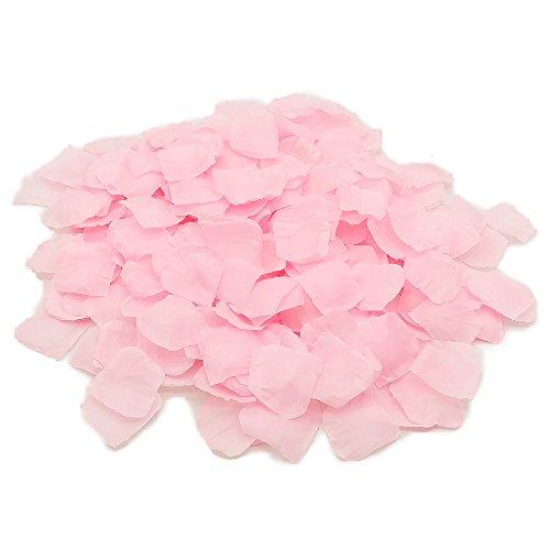 Doutop Silk Pétales de Rose Fleurs Rose Fleurs artificielles Fleur pour mariage Table Confetti Scatter Party Flore Petal Favor nuptiale douche 1000pcs (rose)