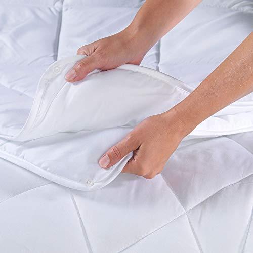 Dreamhome 4-Jahreszeiten Bettdecke 135x200 bestehend aus 2 Steppdecken mit Druckknöpfe