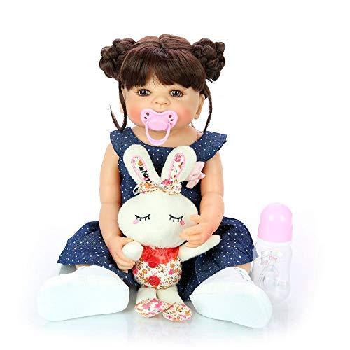 Boneca Bebê Reborn Carol Corpo Inteiro Silicone P/ Dar Banho