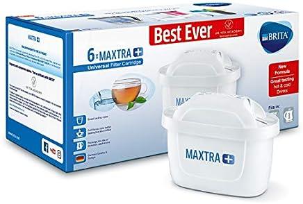 BRITA MAXTRA+ Water Filter Cartridges, Pack of 6