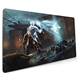 Professional Large Gaming Mouse Pad,Awesome-Shadow-of-Mordor-Background,90x40cm Computer Mouse Mat,Keyboard Non-Slip Rubber Base Water Resistant Stitched Edge,Large Mouse Pad