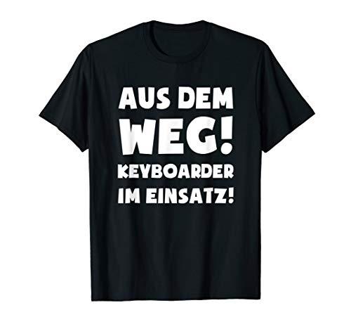 Keyboardspieler Keyboard T-Shirt: Keyboarder Im Einsatz! T-Shirt
