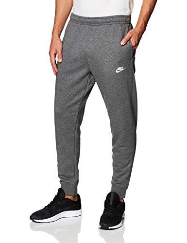 Nike Sportswear Club, Pantaloni Jogger in French Terry Uomo, Charcoal Heathr/Anthracite/White, S