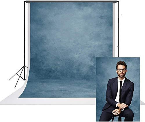 DANIU Fondo de microfibra para fotografía abstracta azul