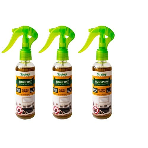 Herbal Strategi – BugSpray Bed Bug Repellent | Room Spray | Completely Herbal | Bed Bug Repellent Spray | Made with Lemongrass, Cedarwood & Neem| Eco-friendly & Biodegradable | Irritant-Free, Chemical-Free |Baby-Safe, Skin-Safe, Plant-Safe | 100mL | Pack Of 3