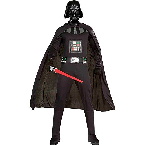 Rubie's Star Wars Darth Vader Costume With Cape, Belt And Mask, Black, X-Large