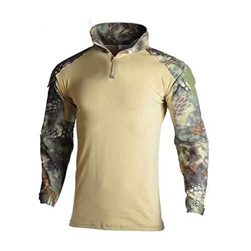 YUANYUAN520 Taktische Weste, Militär-Uniform, Anzug für Jagd, Jagd, Hemden, Hose mit Ellenbogen- und Knieschonern, CS Paintball-Kleidungs-Set (Farbe: Mandrake-Shirts, Größe: M)
