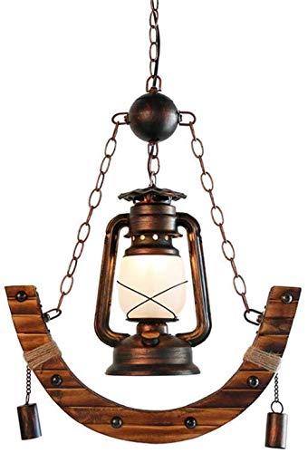 Pendelleuchte antike Bambus Petroleum Laterne Hängelampe E27 Lampen für Wohnzimmer Schlafzimmer Esstisch Lampe