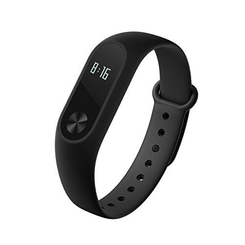 Xiaomi Mi Band 2 Pulsera muñequera smartwatch inteligente para hacer un seguimiento de la actividad física con podómetro, monitor de ritmo cardíaco y monitor de sueño. Con tecnología Bluetooth 4.0 y resistencia al agua IP67 para Android e iOS [Versión Global]