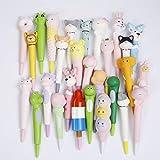 Anboor 3 Piezas Squishies Unicorn Mermaid Panda Pen Grip Kawaii Slow Rising Lápiz perfumado Topper Squishies Kids Toy...
