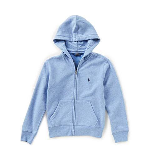 Polo Ralph Lauren Kapuzen-Sweatjacke für kleine Jungen, mit Reißverschluss, Blau meliert, 2/2T