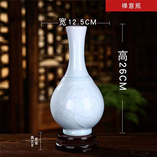 ZYG222 Keramische decoratieve celadon vaas Chinese stijl woonkamer huisdecoratie antieke frame porselein vaas