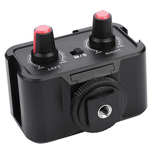VBESTLIFE Camera Mic Mixer, Universal 2 canali, Portatile Premium Premium Stereo Mono Stereo da 3,5 mm con Ingresso per microfoni, ricevitori Wireless, Fotocamera
