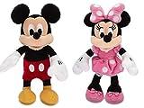 Disney Micky Maus und Minnie Maus Mini Bean Bag Stofftier Set 20cm