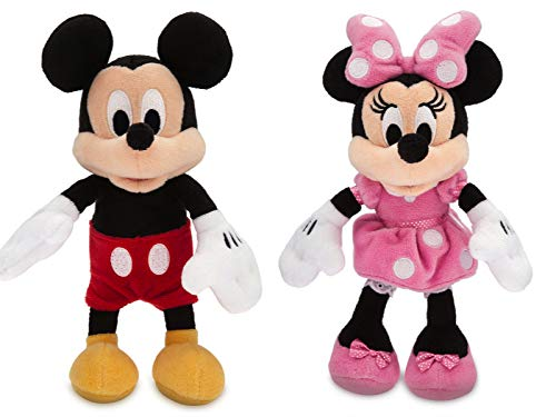 Disney Micky Maus und Minnie Maus Mini Bean Bag Stofftier Set 20cm