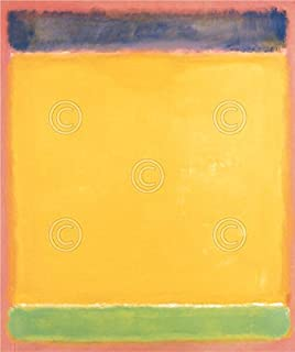 Untitled Blue Yellow Green on Red 1954 by Mark Rothko Abstract Contemporary Print Poster 28x36