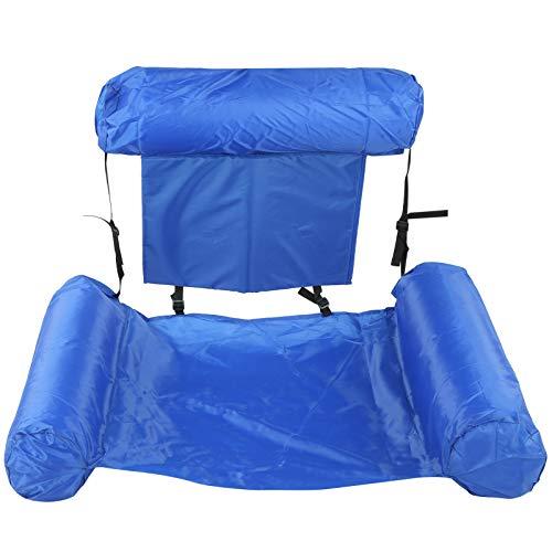 Tumbona flotante de agua plegable, tumbona de agua, con diseño cómodo y ajustado, para usar en la playa en verano, disfrutar de las aguas termales en invierno(Sin tabla de flotabilidad (0,4 kg))