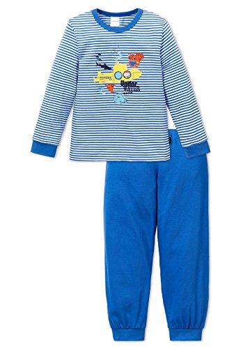 Schiesser Jungen Schlafanzug lang 151768, blau, 128