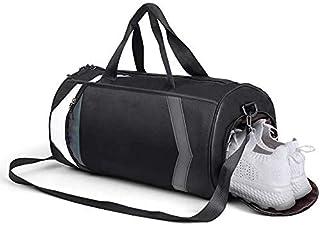 حقيبة رياضية مناسبة للسفر في عطلة نهاية الأسبوع مع حقيبة أحذية خفيفة الوزن مضادة للماء 3 ألوان للرجال والنساء (أسود)