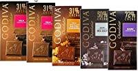 GODIVAゴディバ タブレット 100g×5枚セット( ミルク2枚・ダーク72%1枚 ・ソルティドキャラメル 31%1枚・ダークシーソルト1枚)[ 並行輸入品]