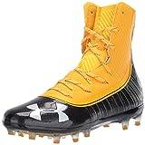 Under Armour Men's Highlight MC Football Shoe, Steeltown Gold (700)/Black, 8