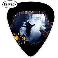 Halloween 3d Bat Mano Brazo Calabaza Zombi Ultraligero Impreso Redondo Plano Suave Plástico Jazz Eléctrico Acústico Bajo Guitarra Accesorios de selección Paquete de variedad